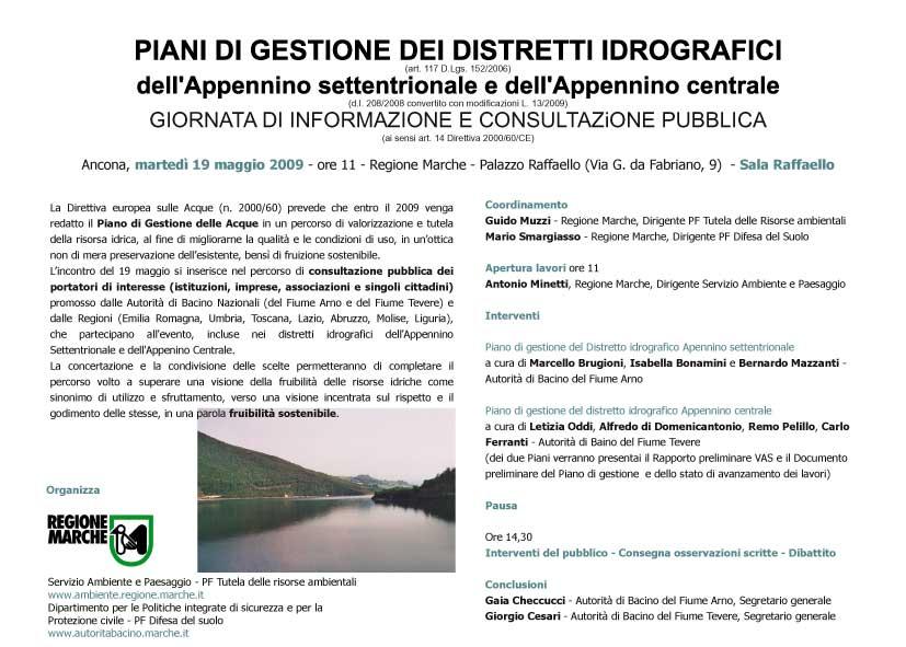 Piani di gestione dei Distretti Idrografici dell'Appennino s - [ b]