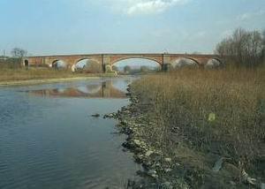 Vista del fiume Arno a Montevarchi - [ b]