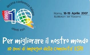 Logo 10<sup>a</sup> Conferenza Italiana Utenti ESRI  - [ b]
